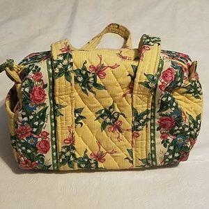 Vera Bradley Yellow Hope Flower Design Handbag